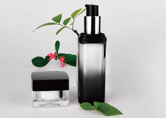 China Black Clear Airless Pump Jar Degradable Plastic Gradient Men Skin Care supplier