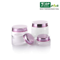 5g Small Acrylic Cream Jar Double Wall Acrylic Containers For Makeup Cosmetic