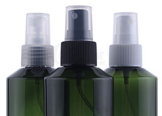 Dark Green Plastic Cosmetic Spray Bottles , Custom Cosmetic Containers 150ml 200ml