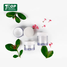 Thick Wall 30g Acrylic Cream Jar ABS Cap PP Collar Material Solid With Lids